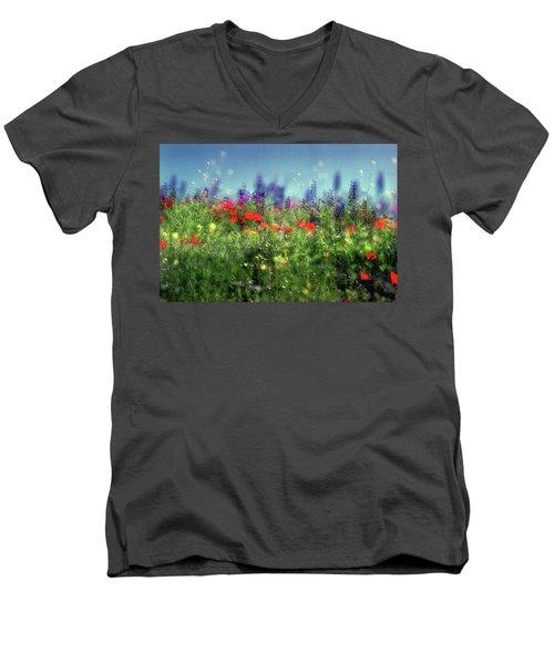 Impressionistic Springtime Men's V-Neck T-Shirt