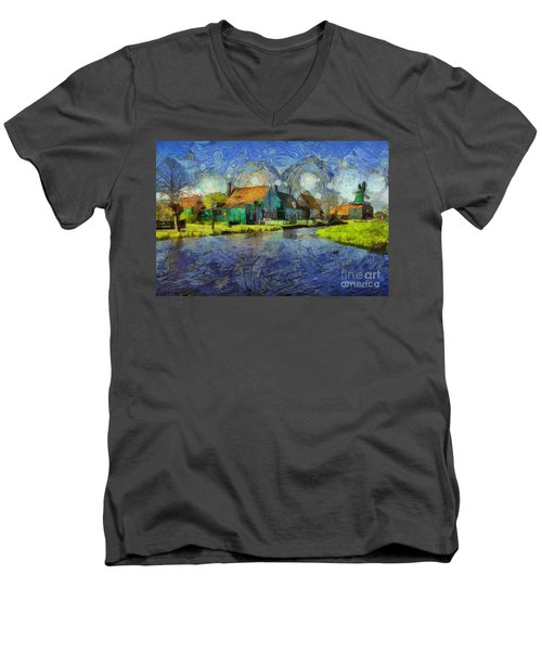 Impressions Of Zaanse Schans Men's V-Neck T-Shirt