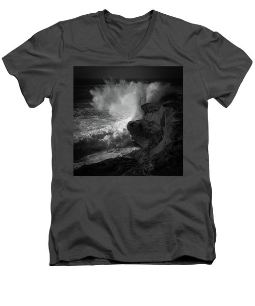 Men's V-Neck T-Shirt featuring the photograph Impulse by Ryan Weddle