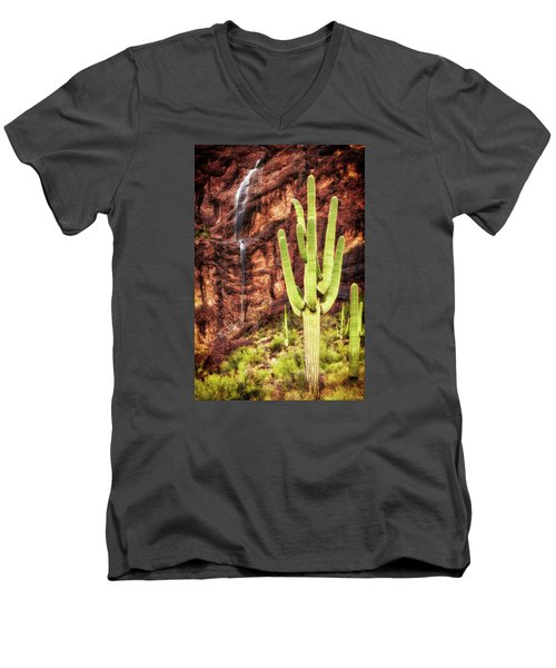 In A Dry And Thirsty Land Men's V-Neck T-Shirt by Rick Furmanek