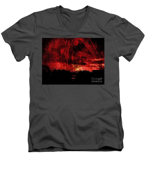 In A Red World Men's V-Neck T-Shirt