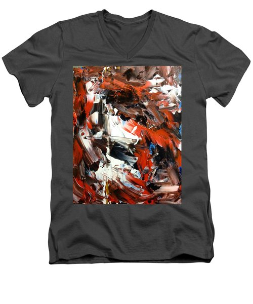In Abstraction  - Rbw No.2 Men's V-Neck T-Shirt