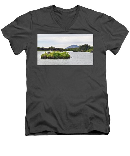 Men's V-Neck T-Shirt featuring the photograph In An Iceland Lake by Joe Bonita