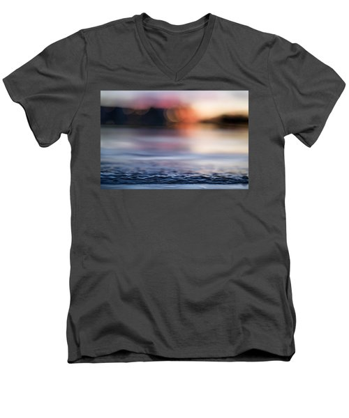 Men's V-Neck T-Shirt featuring the photograph In-between Days by Laura Fasulo
