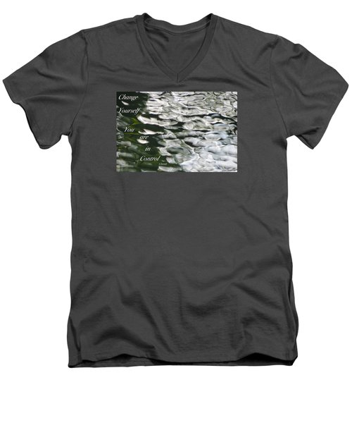 Men's V-Neck T-Shirt featuring the photograph In Control by David Norman