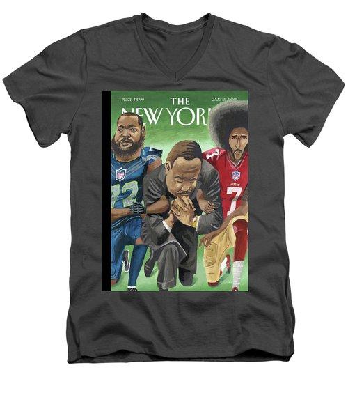 In Creative Battle Men's V-Neck T-Shirt