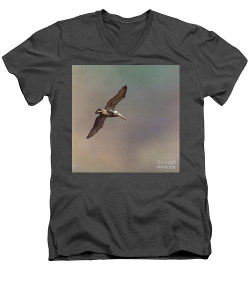 In Flight 2 Men's V-Neck T-Shirt by Phil Mancuso