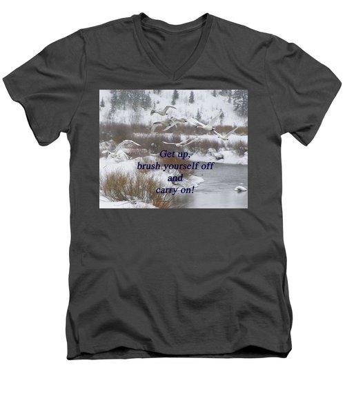 In Flight Carry On Men's V-Neck T-Shirt