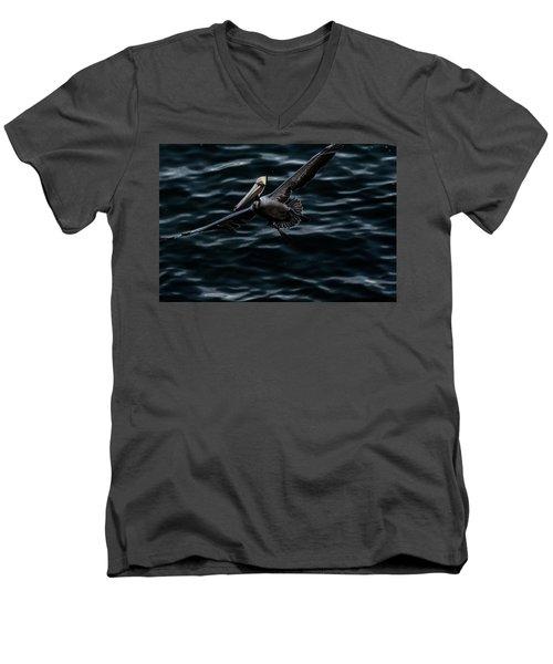 In-flight Men's V-Neck T-Shirt by James David Phenicie