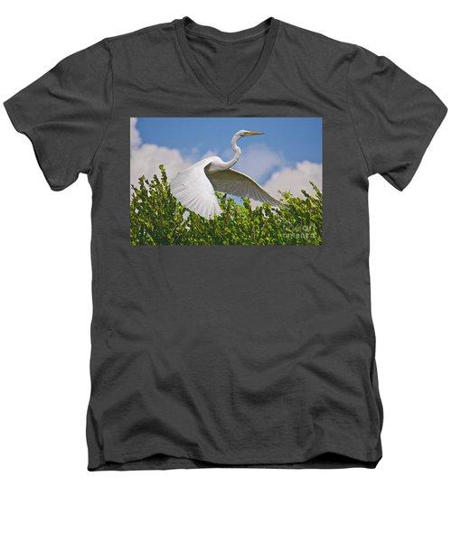 In Flight Men's V-Neck T-Shirt by Judy Kay