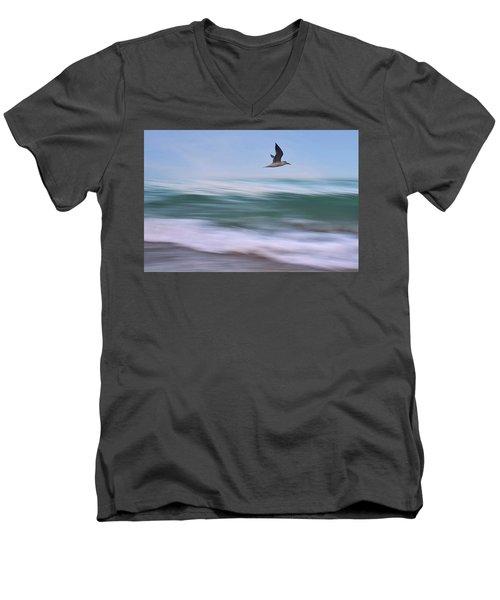 In Flight Men's V-Neck T-Shirt by Laura Fasulo