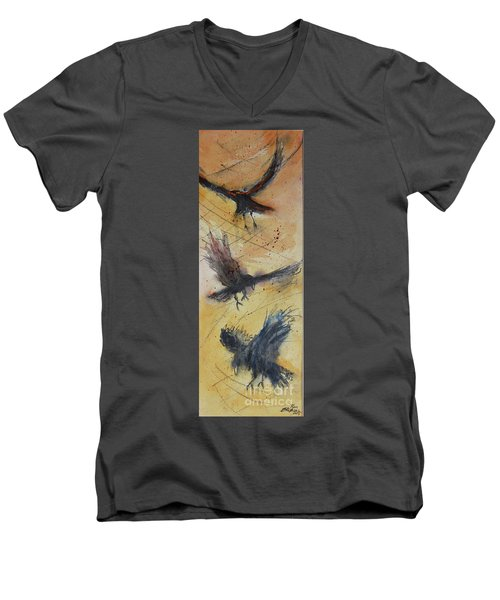 In Flight Men's V-Neck T-Shirt by Ron Stephens
