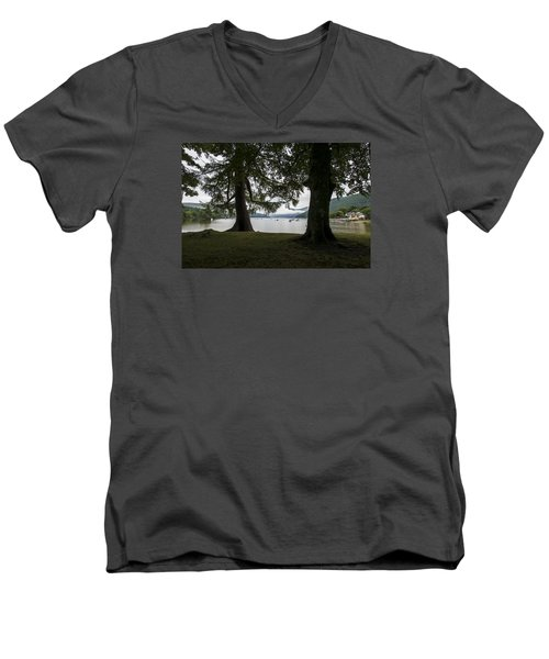 Men's V-Neck T-Shirt featuring the photograph In Glencoe Uk by Dubi Roman