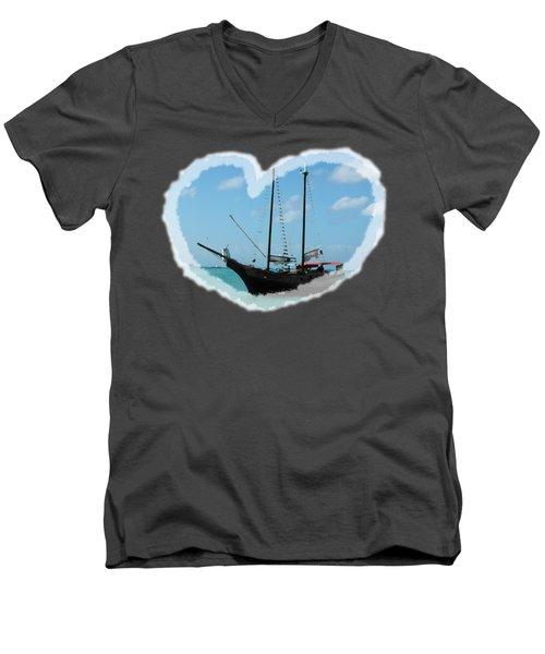 In My Heart Men's V-Neck T-Shirt by David and Lynn Keller