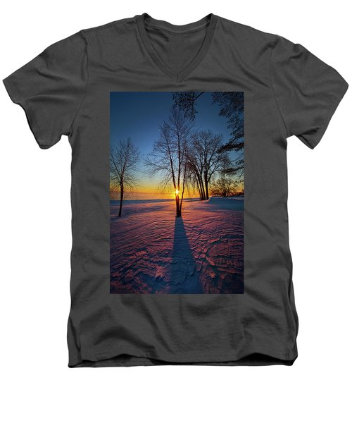 Men's V-Neck T-Shirt featuring the photograph In That Still Place by Phil Koch