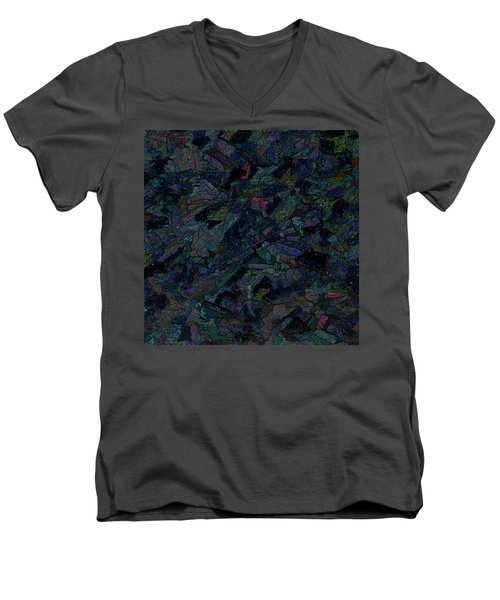 Men's V-Neck T-Shirt featuring the photograph In The Abstract by Lewis Mann