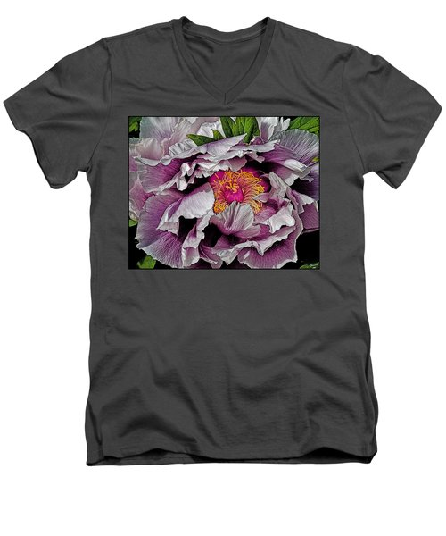 In The Eye Of The Peony Men's V-Neck T-Shirt