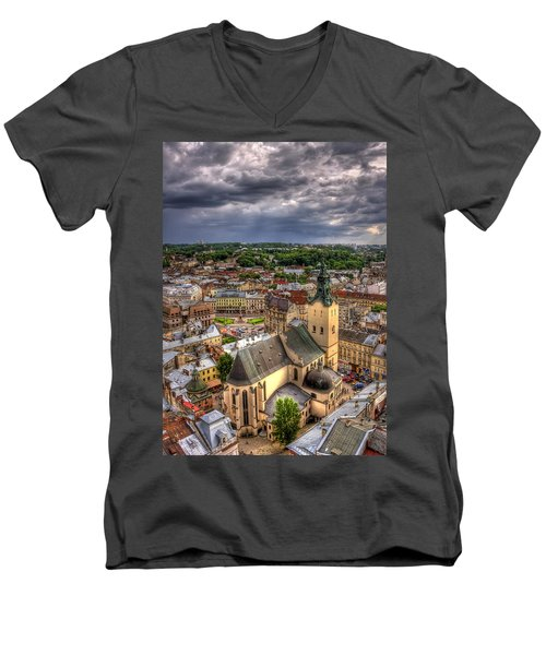 In The Heart Of The City Men's V-Neck T-Shirt