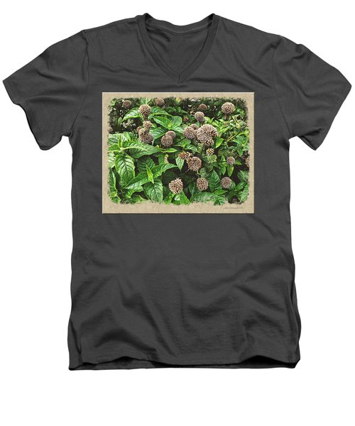 Men's V-Neck T-Shirt featuring the photograph In The Highline Garden by Joan  Minchak