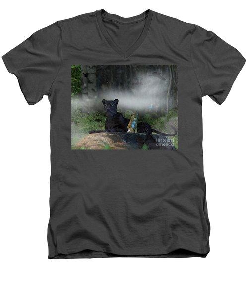 In The Jungle Men's V-Neck T-Shirt