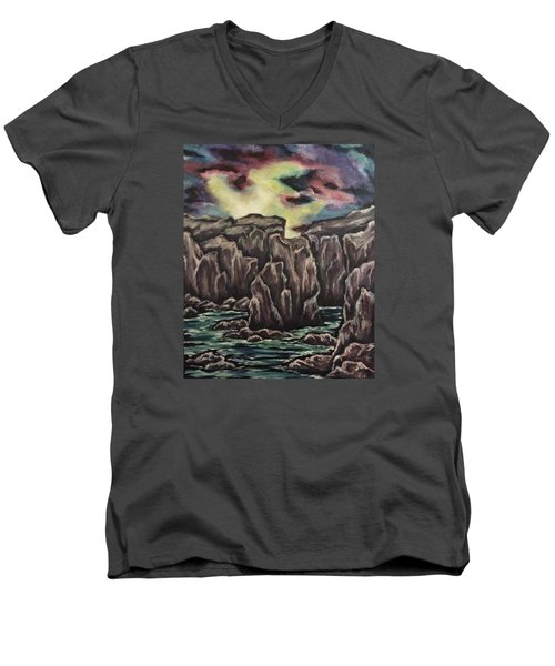 In The Land Of Dreams 2 Men's V-Neck T-Shirt by Cheryl Pettigrew