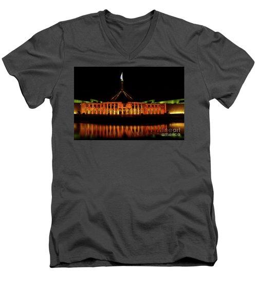 In The Light Of Magna Carta Men's V-Neck T-Shirt