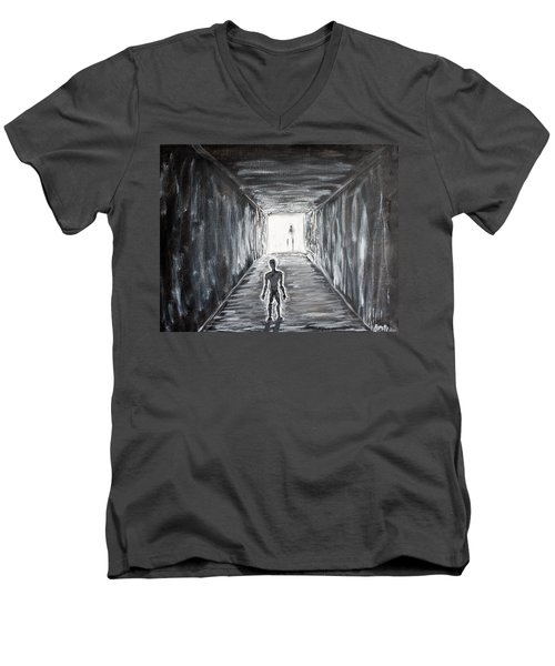 In The Light Of The Living Men's V-Neck T-Shirt