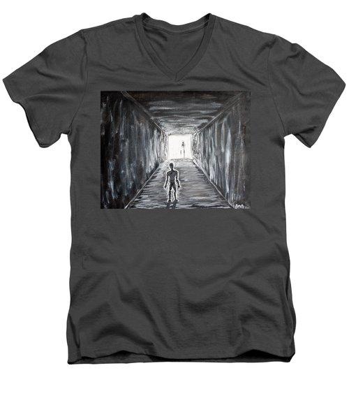 In The Light Of The Living Men's V-Neck T-Shirt
