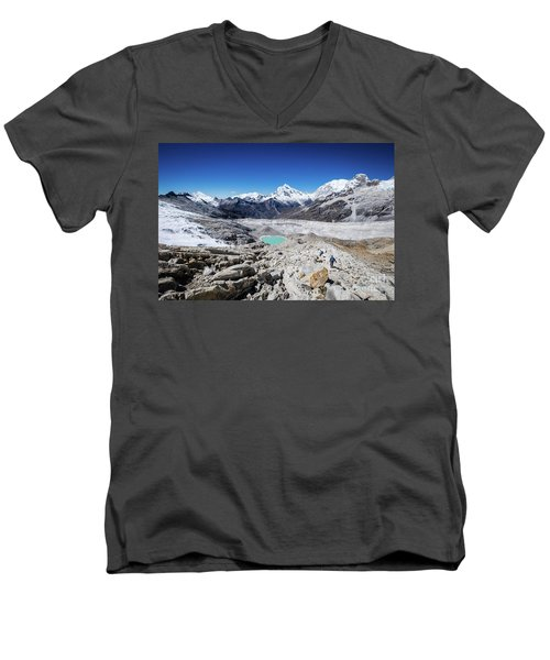 In The Middle Of The Cordillera Blanca Men's V-Neck T-Shirt