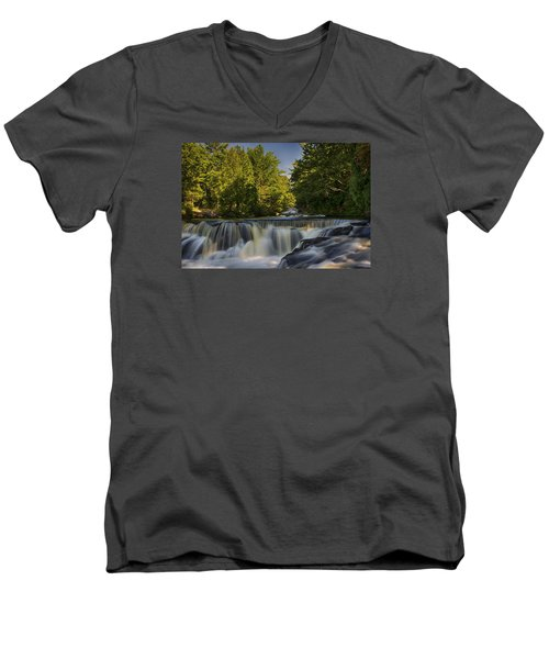 In The Middle Of The Middle Branch Men's V-Neck T-Shirt by Dan Hefle