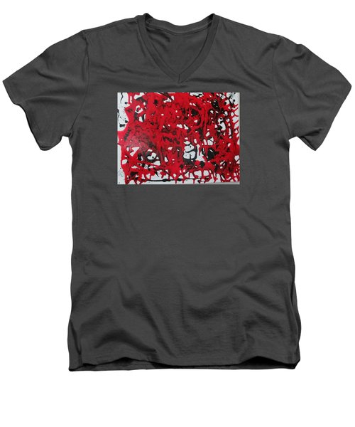 In  The Midst Of Passion Men's V-Neck T-Shirt by Sharyn Winters