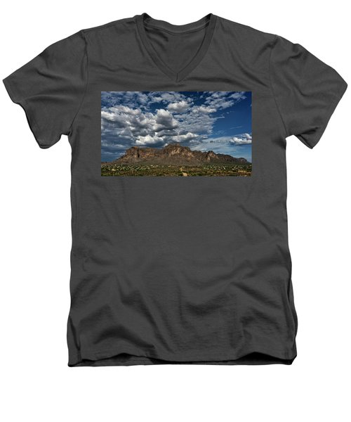Men's V-Neck T-Shirt featuring the photograph In The Midst Of The Superstitions  by Saija Lehtonen