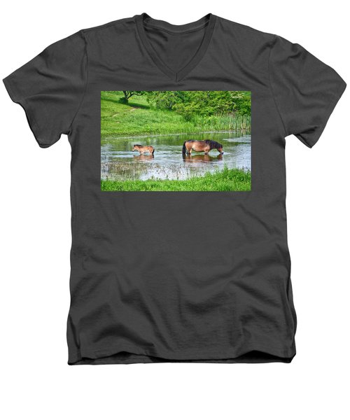 In The Puddle 1 Men's V-Neck T-Shirt