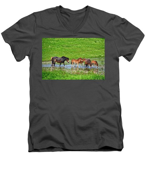 In The Puddle 2 Men's V-Neck T-Shirt