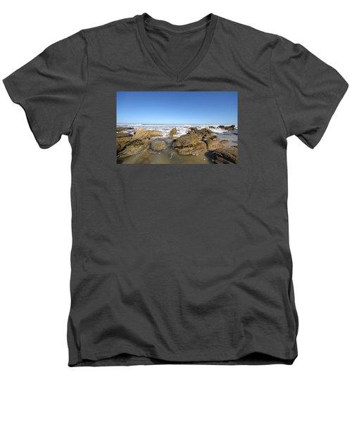 In The Rocks Men's V-Neck T-Shirt by Robert Och