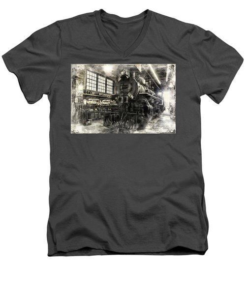 In The Roundhouse Men's V-Neck T-Shirt