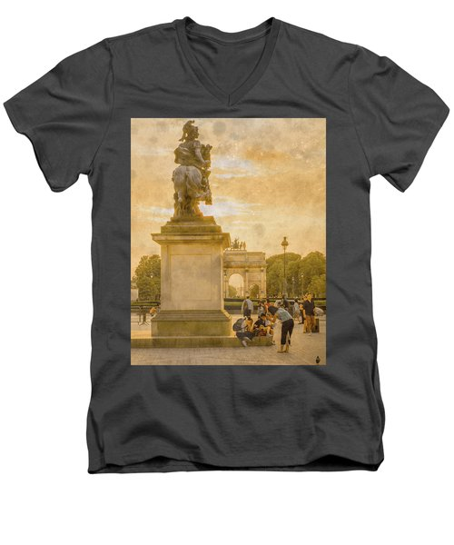 Paris, France - In The Shadow Of Glory Men's V-Neck T-Shirt
