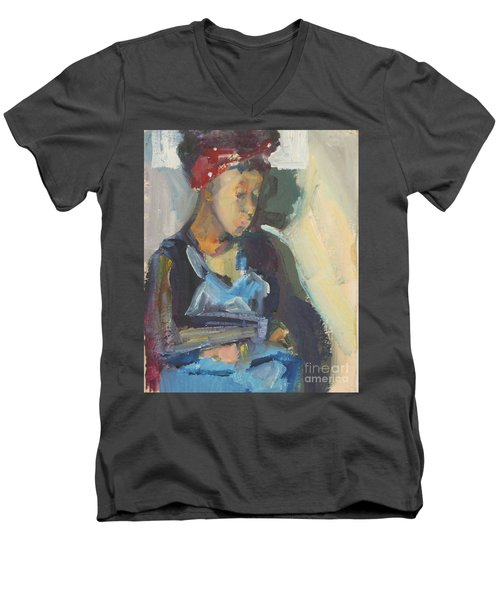 In The Still Of Quiet Men's V-Neck T-Shirt