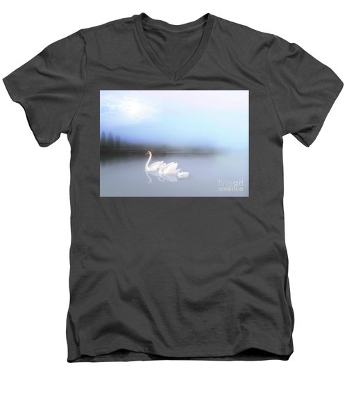 In The Still Of The Evening Men's V-Neck T-Shirt