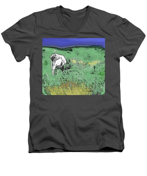 In The Sweet Fields Men's V-Neck T-Shirt
