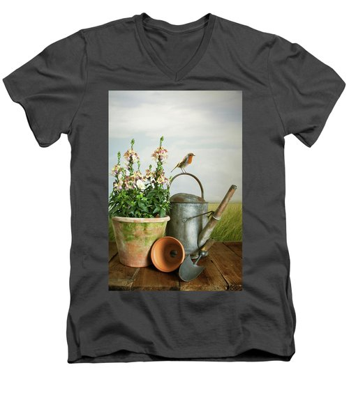 In The Vintage Garden Men's V-Neck T-Shirt