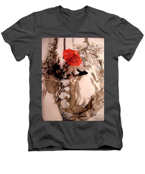 In The Winter Garden Men's V-Neck T-Shirt by Nancy Kane Chapman