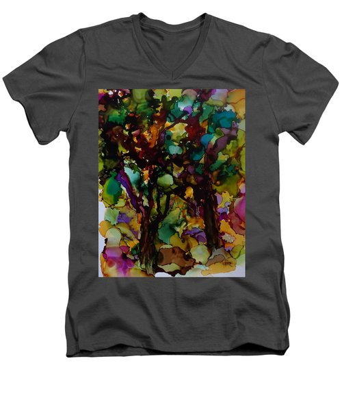 In The Woods Men's V-Neck T-Shirt by Alika Kumar