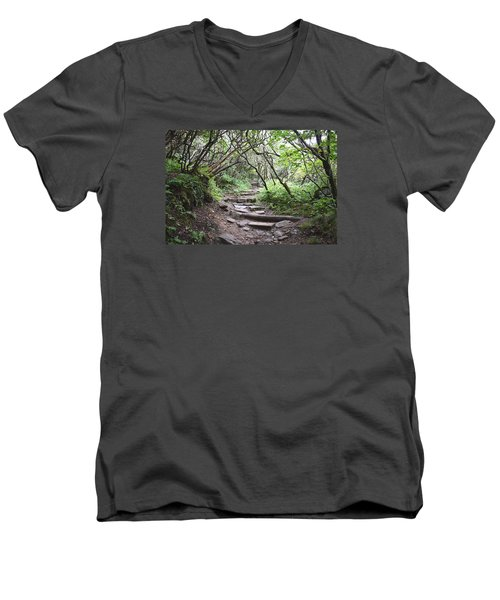 The Enchanted Forest Path Men's V-Neck T-Shirt by Gary Smith