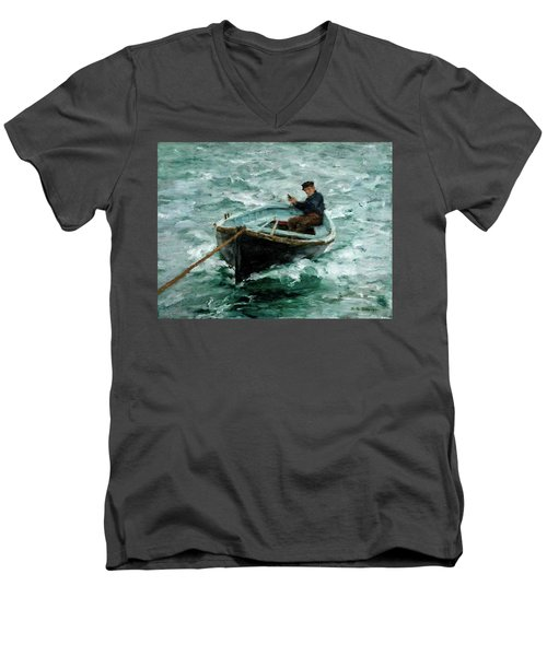 In Tow  Men's V-Neck T-Shirt