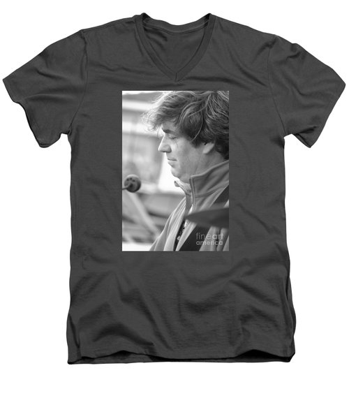 Men's V-Neck T-Shirt featuring the photograph In Trospect by Jesse Ciazza