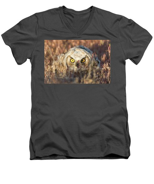 Incognito Men's V-Neck T-Shirt by Scott Warner