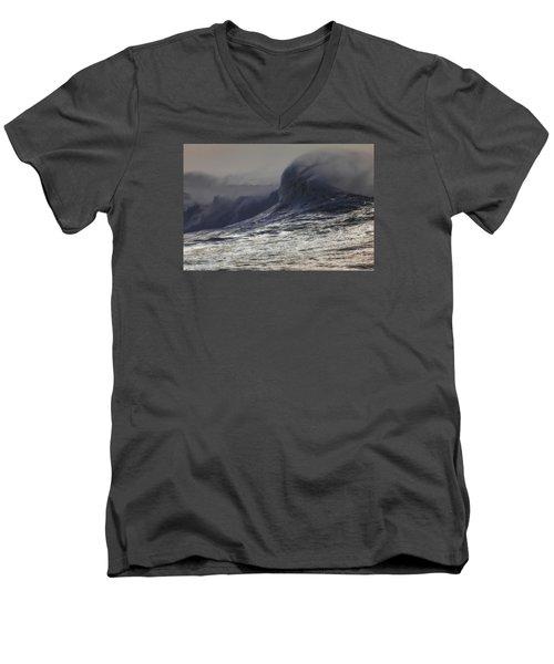 Incoming Men's V-Neck T-Shirt by Mark Alder