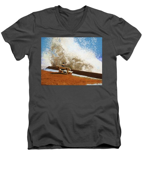 Incoming Men's V-Neck T-Shirt by Thomas Blood