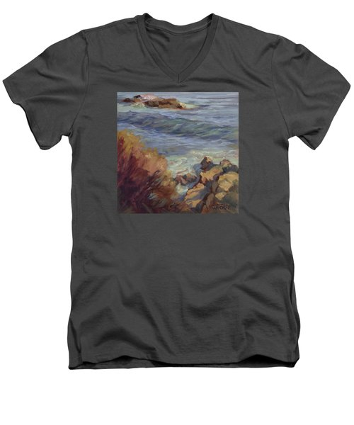 Incoming Wave Men's V-Neck T-Shirt by Jane Thorpe